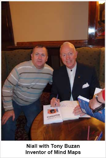 Niall with Tony Buzan